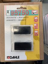 Dahle Magnet 23x50 2Stk. Schwarz