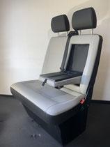 VW T6 / T5 Beifahrerdoppelsitzbank Kunstleder mit Klapptisch