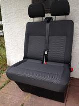 VW T6 / T5 Beifahrerdoppelsitzbank Stoff TASAMO