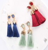 Charm  Tassel Long Earrings
