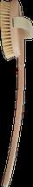 Holz Fußmasagebürste mit gekrümten Stiel