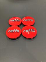 RAFFA WHEELS NABENDECKEL SET | ROT  | PASSEND BEI ALLEN RAFFA WHEELS RS-01 / 03 / 04  MODELLEN