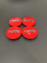 RAFFA WHEELS NABENDECKEL SET   ROT    PASSEND BEI ALLEN RAFFA WHEELS RS-01 / 03 / 04  MODELLEN