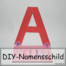 Namensschild aus Wolle