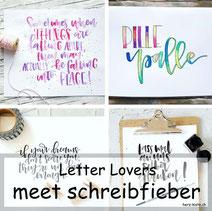 Letter Lovers - Schreibfieber zu Gast in der Herz-Kiste mit einer Lettering Anleitung für geletterte Schlüsselanhänger