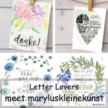 Letter Lovers - maryluskleinekunst zu Gast mit einer Anleitung für eine Karte Mein liebes Kind