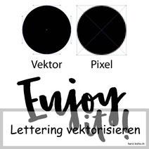 Anleitung: Wie du dein Lettering vektorisieren kannst