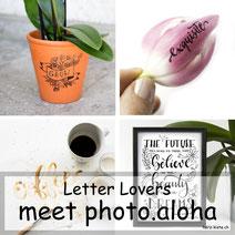 Letter Lovers: photo.aloha zu Gast mit einer Lettering Anleitung - Zitate lettern mit einer Mini-Skizze