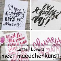 Letter Lovers: maedchenkunst zeigt das Bounce Lettering