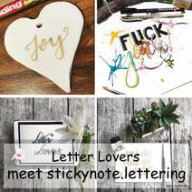 Letter Lovers - stickynote.lettering zu Gast mit einer Anleitung für Fake Porzellan - perfekt als Geschenkanhänger
