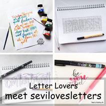 Letter Lovers: sevilovesletters mit einer Lettering Anleitung für 3D-Lines