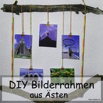 DIY Bilderrahmen aus Ästen