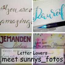 Letter Lovers: sunnys_fotos zeigt, wie ihr mit Feder und Wasserfarben schönes zaubern könnt