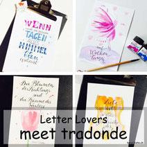 Tradonde zu Gast bei den Letter Lovers mit einer Anleitung für einen Bokeh Hintergrund