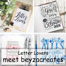 Letter Lovers beyzacreates zu Gast - mit einer Anleitung für ein DIY Klemmbrett für deine Letterings