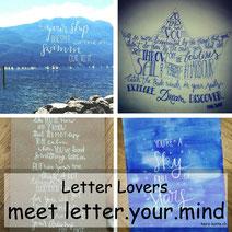Letter Lovers: letter.your.mind zeigt die Aquarell Spritztechnik
