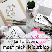 Letter Lovers: michiliciousblog zeigt eine Anleitung für Schatten beim Lettering