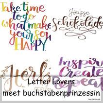 Letter Lovers: Buchstabenprinzessin zeigt Watercolorlettering