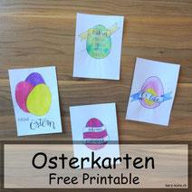 Handlettering Osterkarten: Free Printable