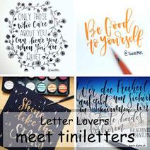 Letter Lovers: tiniletters zu Gast mit einer Anleitung für Florishing