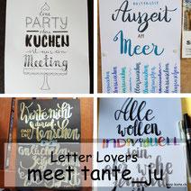Letter Lovers in der Herz-Kiste: Tante Ju (iletterju) zu Gast