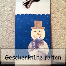 Anleitung für eine DIY Geschenktüte falten