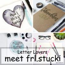 Letter Lovers frl.stucki zu Gast im Lettering Interview mit einer Anleitung für einen DIY Weihnachtsplanner