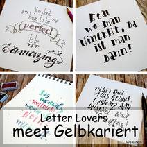 Letter Lovers: gelbkariert zeigt, wie du verschiedene Techniken miteinander verbindest