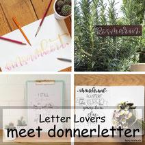 Letter Lovers in der Herz-Kiste - donnerletter zu Gast mit einer Anleitung für geletterte Kräuterschilder