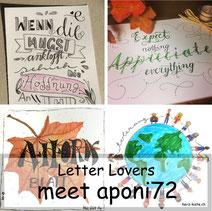 Letter Lovers: aponi72 erklärt, wie ihr Banner zeichnet
