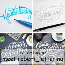 Letter Lovers - robert_lettering zu Gast mit einer Anleitung für Brusphen Anfänger
