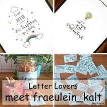 Letter Lovers - fraeulein_kalt zu Gast mit einer Anleitung für selbstgemachte Glückskekse mit geletterten Sprüchen