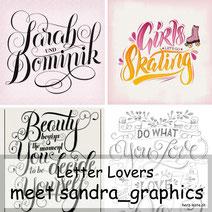 Letter Lovers sandra_graphics mit einer Anleitung für ein DIY Chalk Board Lettering auf Leinwand