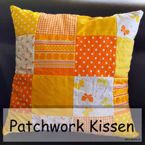 Patchwork Kissen in Orange