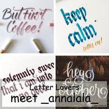 Letter Lovers _annalala_ mit Anleitung zum Farbverlauf