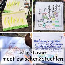 Letter Lovers - zwischen2stuehlen zu Gast mit einer Anleitung für Karten gestalten