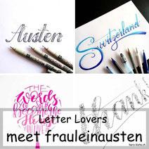 Letter Lovers: frauleinausten zeigt Faux Calligraphy mit Blumen