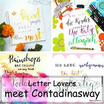 Letter Lovers: contadinasway zeigt einen Hintergrund: Blending mit Stempeln