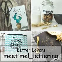 Mel_Lettering zu Gast bei den Letter Lovers mit einer DIY Geschenkidee für ein Knuspermüsli zum verschenken
