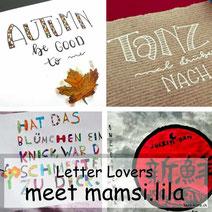 Letter Lovers: mamsi.lila zeigt die Wäscheklammerkalligraphie