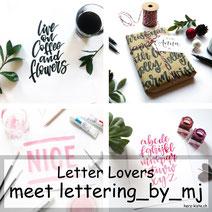 Letter Lovers - lettering_by_mj zu Gast mit einer Lettering Anleitung wie du deine Geschenke hübsch verpacken kannst