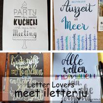 Letter Lovers: iletterju mit einer Anleitung zum Embossing