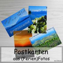 Postkarten gestalten aus Ferien Fotos