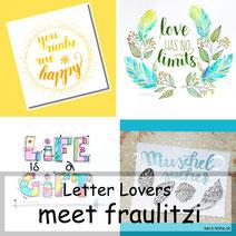 Letter Lovers: fraulitzi zeigt Lettering mit einem Kosmetikschwämmchen