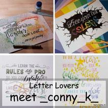 Letter Lovers: _conny_k_ erklärt das Lettering mit Rubelkrepp