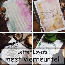 Letter Lovers: vierneuntel zeigt ein Zitat mit Aquarelllhintergrund