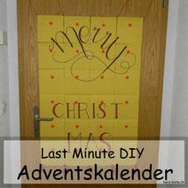 DIY Anleitung für einen Last Minute Adventskalender aus Briefumschlägen mit Handlettering