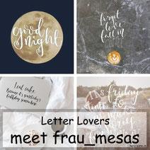 Letter Lovers: frau_mesas zeigt dir, wie du ein Lettering auf ein Foto legen kannst