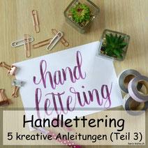 5 kreative Anleitungen für dein Lettering - Teil 3: Colafeder / Layouting / Rubbelkrepp / Farbverlauf / Banner