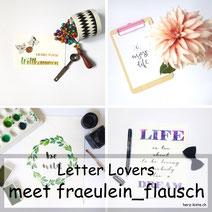 Letter Lovers: fraeulein_flausch zu Gast im Lettering-Interview mit einer DIY Anleitung zum Blätter skelettieren